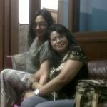 Aku dan Esti Kinasih, penulis novel Fairish, yang juga jadi pembicara di worskhop.